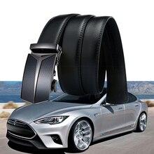 1 комплект для Tesla модель S модель X 3 P100D P85D 3D Meatl эмблема аксессуары логотип настоящий кожаный автостайлинг крутой деловой ремень