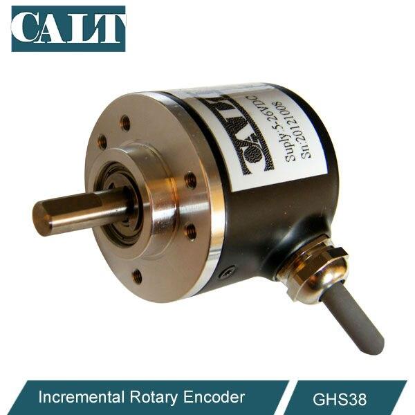 цена на cheap 38mm outer dia 6mm shaft small optical incremental encoder 5v 12v 24v for sale