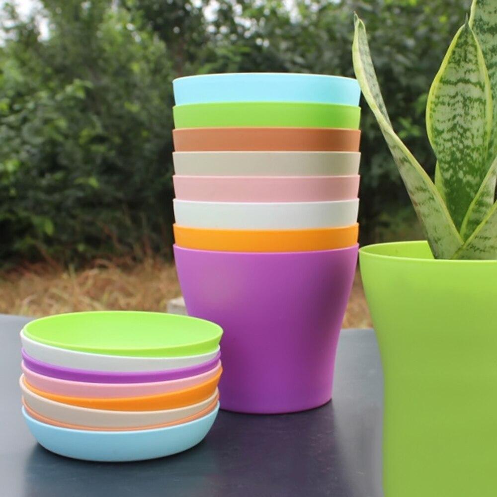 1pcs plastic flower pot succulent plant flowerpot for home office