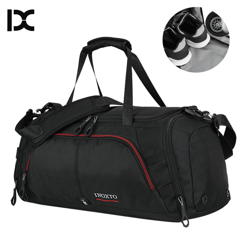 цены Large Sport Bag Gym Bags Travel Fitness Durable Handbags Large Outdoor Sporting Big Waterproof Shoulder Shoes For Male XA416WA
