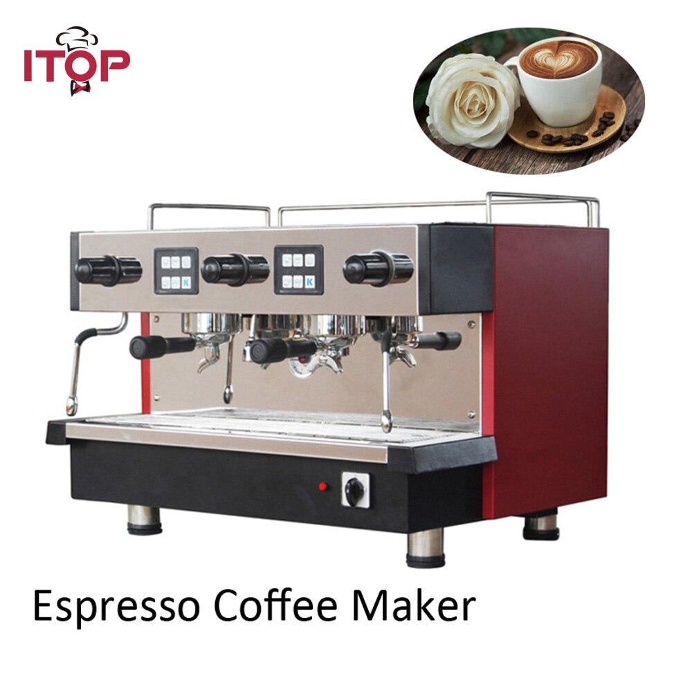 Eléctrica Italia cafetera espresso comercial de doble grupo 11L CE 220, 240 V