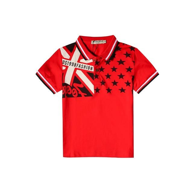 2017 moda curto-de mangas compridas T-shirt das crianças para meninos marca designer de verão de algodão crianças bebê Camisetas Lapela camisa menino roupas