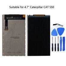 Tırtıl Kedi S50 için uygun lcd ekran 4.7 inç 1280*720 akıllı telefon yedek samimi aksesuarları ile araçları