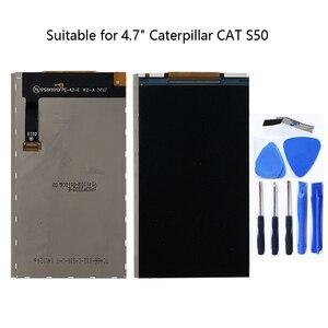 Image 1 - Tırtıl Kedi S50 için uygun lcd ekran 4.7 inç 1280*720 akıllı telefon yedek samimi aksesuarları ile araçları