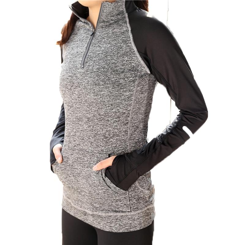 New Cushion Woman Long Sleeve Jacket Stand Sporting Cover Jacket Sweatshirt Exercise Cloth Zip Jacket Casual Women Jacket