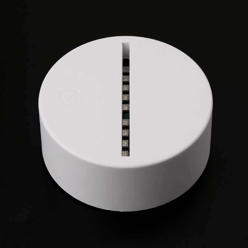 USB Novidade 7 Cores Mudando Dedo Coração LED Night Light 3D Mesa Candeeiro de Mesa Decoração de Casa Navio Da Gota