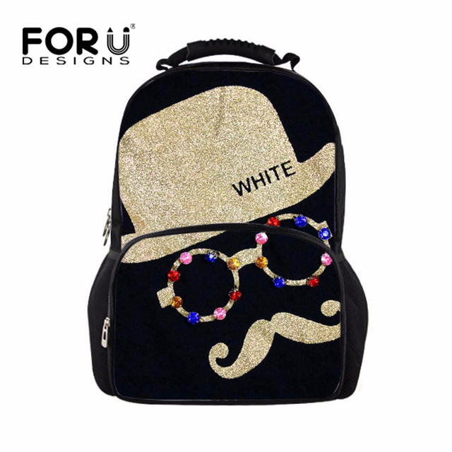 3D Cartoon Teenager Boys Girls School Bags Moustache Children Schoolbags High Student Kids School Backpacks Mochila Escolar