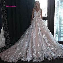 LEIYINXIANG Popular New Arrival Wedding Dress Bride Vestido De Noiva Sereia Robe Sexy Ball Gown Luxury Appliques Zipper