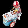 ¡ Caliente! Estaño Metal de la vendimia Del Coche Helado Clockwork Wind Up Tin Toy Colección Nueva Venta