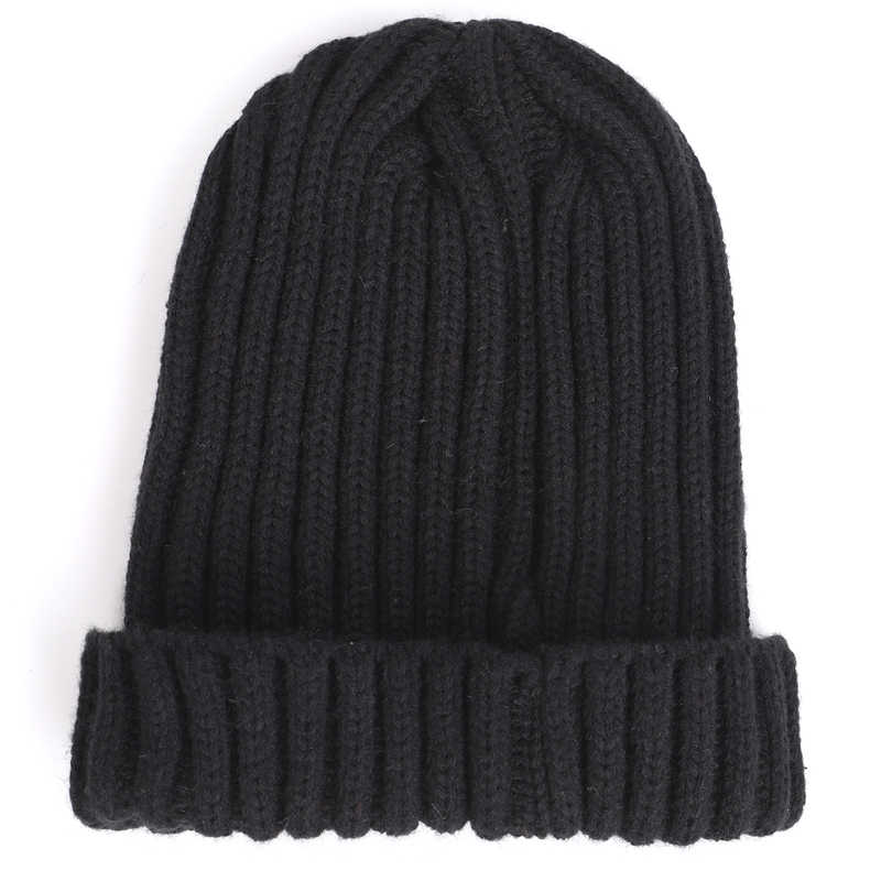 8fac5b10691ea ... Men's winter knit cotton caps warm and comfortable unisex ladies ski  hats solid color male leather ...
