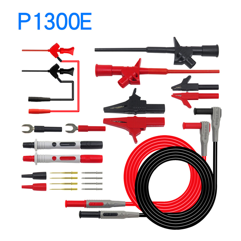 Image 3 - Cleqee Multifunctional Multimeter Probe Kit Piercing IC Test Hook Lead Needle 4mm Banana Plug Alligator Clip stick Clamp-in Instrument Parts & Accessories from Tools