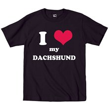 I Heart Love My Daschund, Dog Weiner Dog Breed Puppy Pet Parent Mens T Shirt O-Neck Tops Tee Shirts Cartoon Character(China)