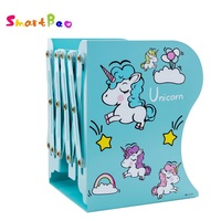 Cartoon Metal Bookend Cute Book Standing Stretching Adjustable Book Stand Book Organizer Stand Desk