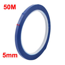 Uxcell Blue/Black/White Single Sided Polyester Strong Self Adhesive Mylar Tape 50M x 5mm Width Insulation Hot Sale 1PCS