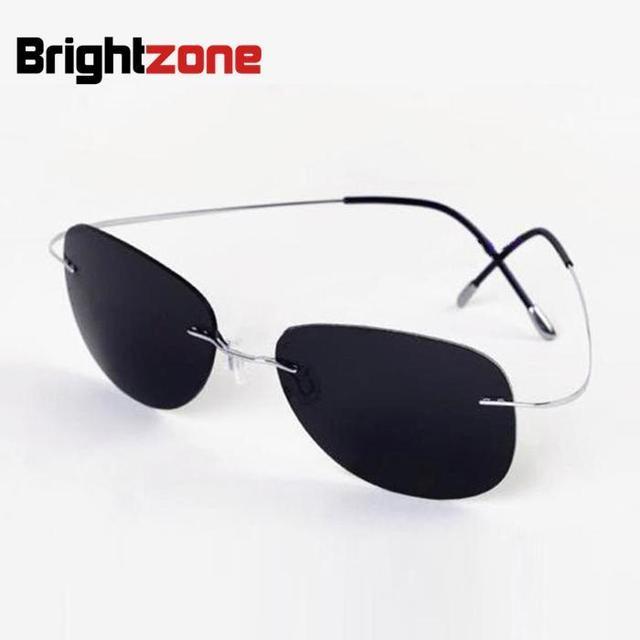 70709011f8 New Arrival Free Shipping Luxury Ultra-light Flexible Pure Titanium Rimless  Unisex Gray Polarized Sunglasses Eyeglasses Eyewear