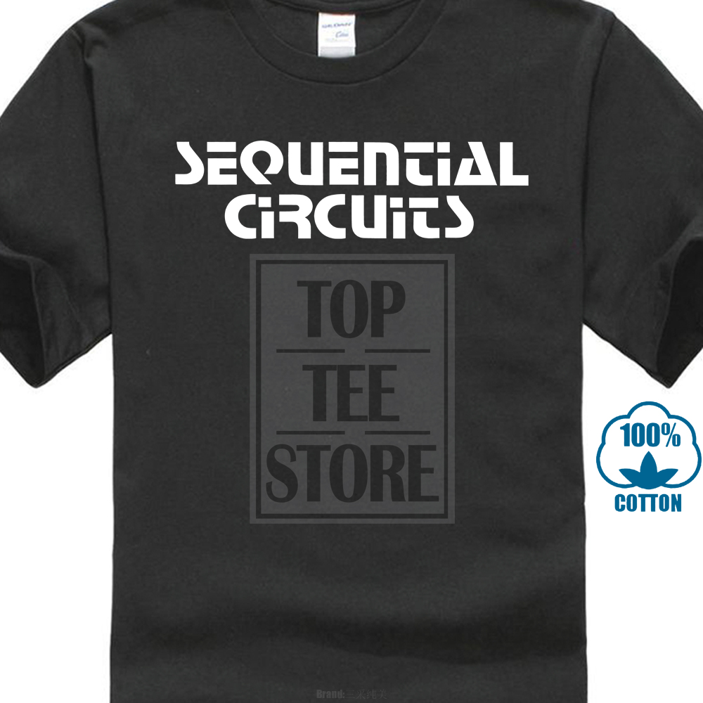US $8 49 15% OFF|Sequential Circuits T Shirt 100% Cotton Retro Synth Pro  One Prophet 5 10 Cartoon Print Short Sleeve T Shirt Free Shipping-in  T-Shirts