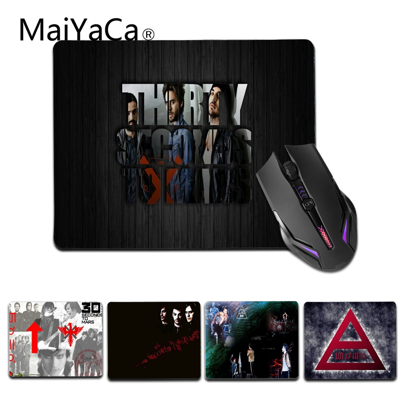 MaiYaCa New Printed Jared 30 Seconds To Mars mouse pad gamer play mats Size for 25X29cm Rubber Mousepads