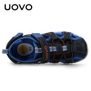 Image 5 - UOVO جديد وصول 2020 الصيف صنادل شاطئ الاطفال مغلق تو طفل الصنادل الأطفال موضة أحذية مصممين للبنين #24 38
