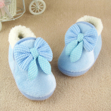 Butterfly-knot Lovely Winter Warm Baby Shoes