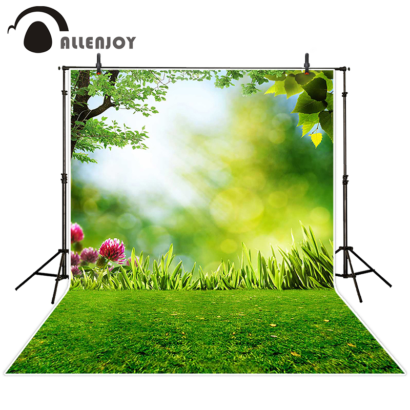 Allenjoy photographic spring background Meadow flower tree sunshine backdrops wedding Excluding bracket photocall 8x12ft