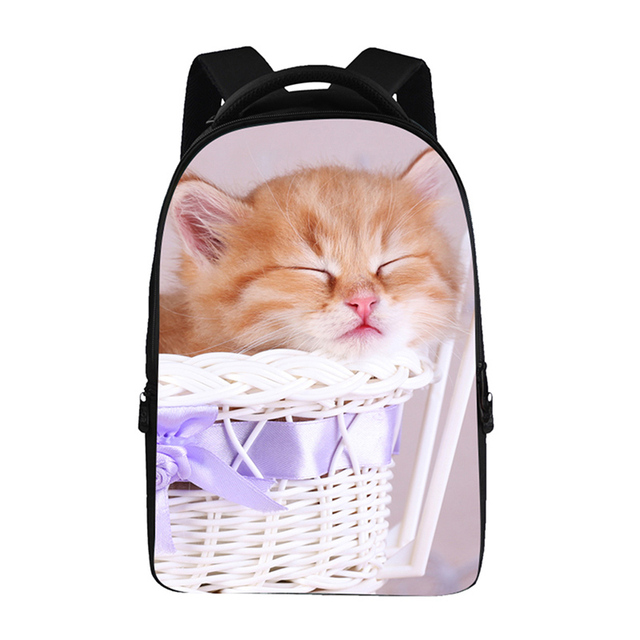 3D Pet cat Backpacks For Teens Computer Bag Fashion School Bags For Primary  Schoolbags Fashion Backpack Best Book Bag bb19ee3cd238e