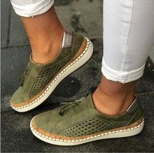 Olomm Sneakers Women  Vulcanize Shoes Casual Breathable Female Soft Leather Flats Ladies
