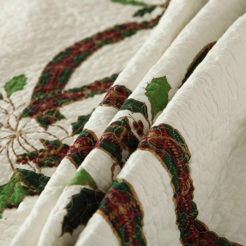 CHAUSUB Neue Weihnachten Bänder Quilt Set 3 STÜCKE Gewaschener Baumwolle Quilts gesteppte Bettdecke Bettdecke Kissenbezug König Größe Bettdecke Satz - 3