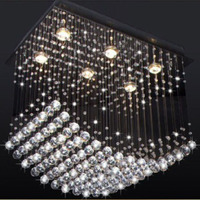 Manggic popular design K9 crystal chandelier curtain wave contemporary bedroom study living room dining room crystal chandelier