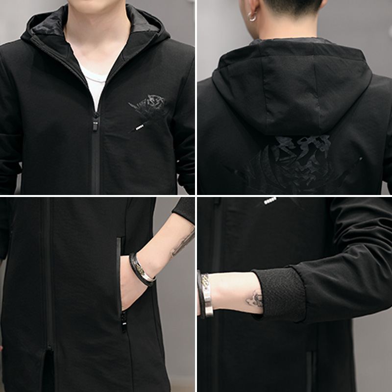 100% polyester Paragraph dust coat grows in autumn and winter youth coat blazer jacket male JK07 - P85 46