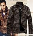2016 осень высокое качество Кожаная Куртка Мужчины jaqueta де couro masculina зима мужские кожаные куртки мужские Пальто Куртка Мотоцикла