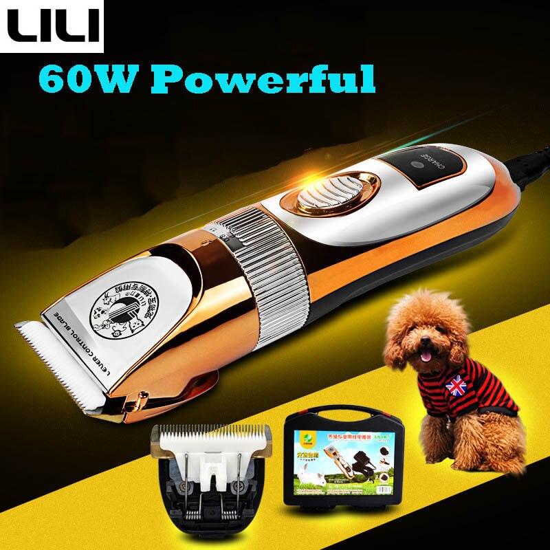 Ev ve Bahçe'ten Köpek Saç Kesme Makineleri'de 60 W Profesyonel Pet Köpek Saç Hayvan Tımar Clippers Kedi Kesiciler Makine Tıraş Makinesi Elektrikli Makas Biçme Makası ZP 293'da  Grup 1