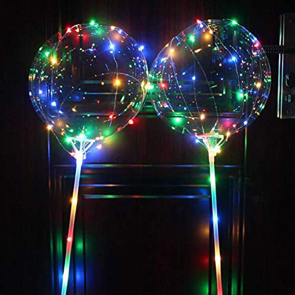 Meglio Neon O Led 5/3/1pcs balao led luminous balloon transparent reusable