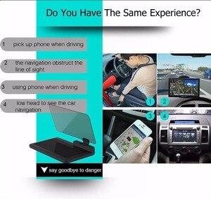 Image 3 - Cabeça up display gps navegação carro traço montar titular do telefone celular filme reflexivo, veículo hud smartphone suporte de montagem para iphone
