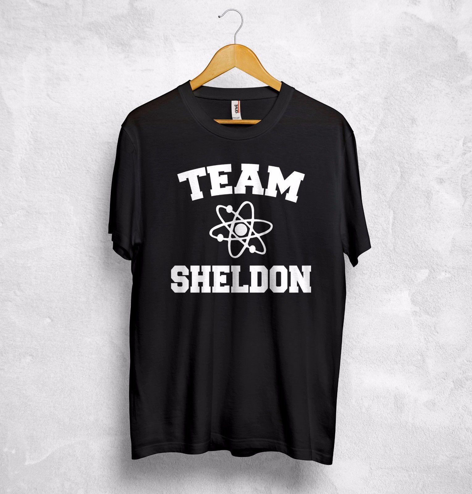 Team Sheldon Cooper T Shirt Top Nerd Geek The Big Bang Theory Penny Leonard Gift Free shipping Harajuku Tops t shirt Fashion