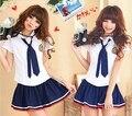 Súper ventas chicas japonesas del estilo de los estudiantes se adapta a la camiseta + falda uniforme escolar Campus ropa para la escuela secundaria