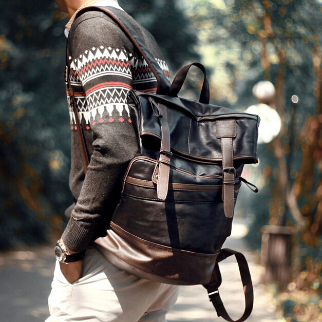 Popular Leather Backpack Fashion Men-Buy Cheap Leather Backpack ...