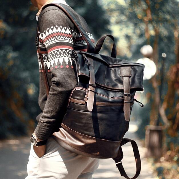 ETN BAG hot sale brand high quality men fashion leather backpack male vintage bags casual travel bags for laptop school bag stacy bag 122415 hot sale man hand bag men vintage envelope bag male clutch
