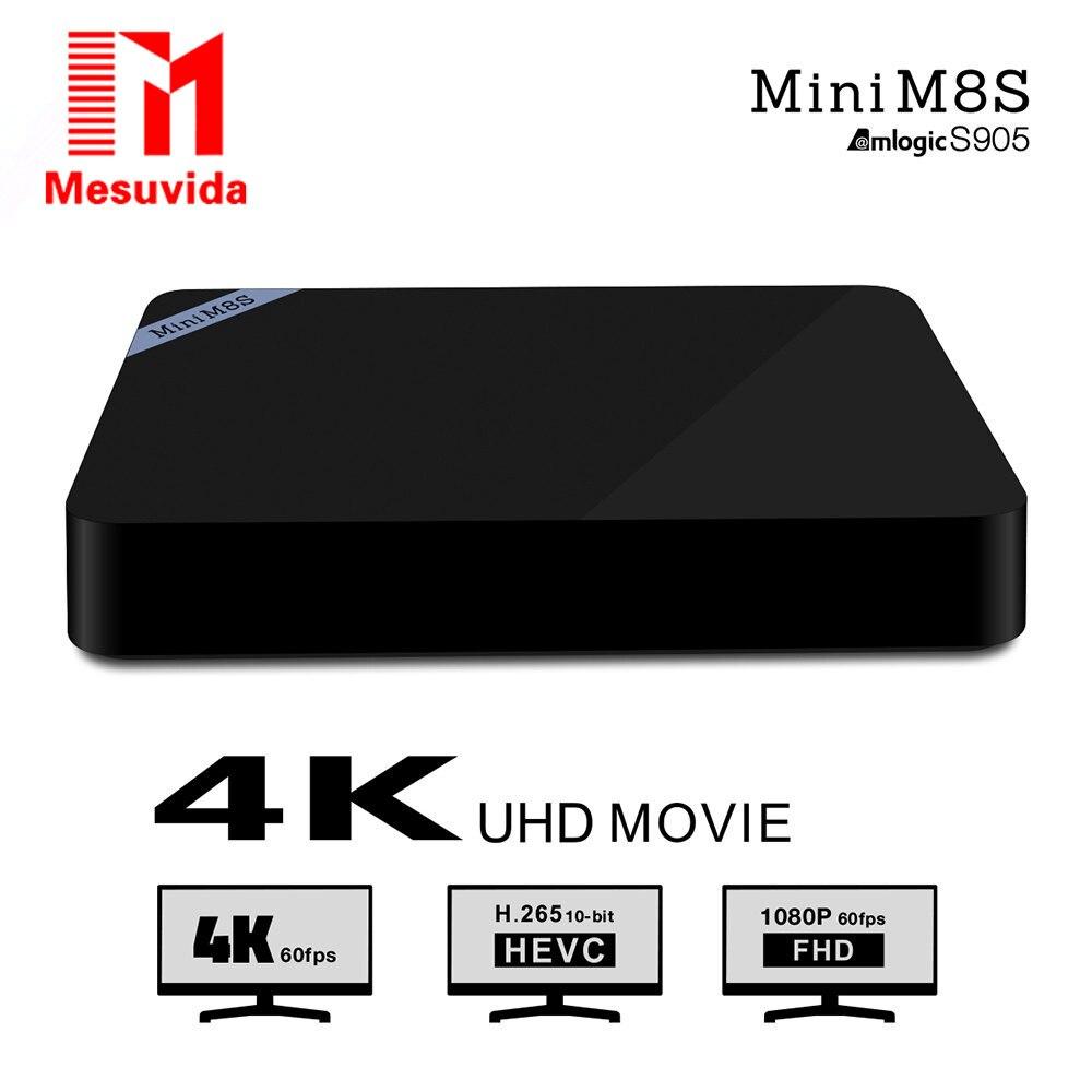 Mesuvida Mini M8S II TV Box Set Top Box Amlogic S905X Android 6.0 Quad Core WiFi Bluetooth 4.0 2GB RAM 8GB Smart Media Player  mesuvida k6 tv box amlogic s812 android 5 1 1 quad core 2 4ghz 5ghz wifi bluetooth 4 0 2gb ram 8gb rom set top box media player