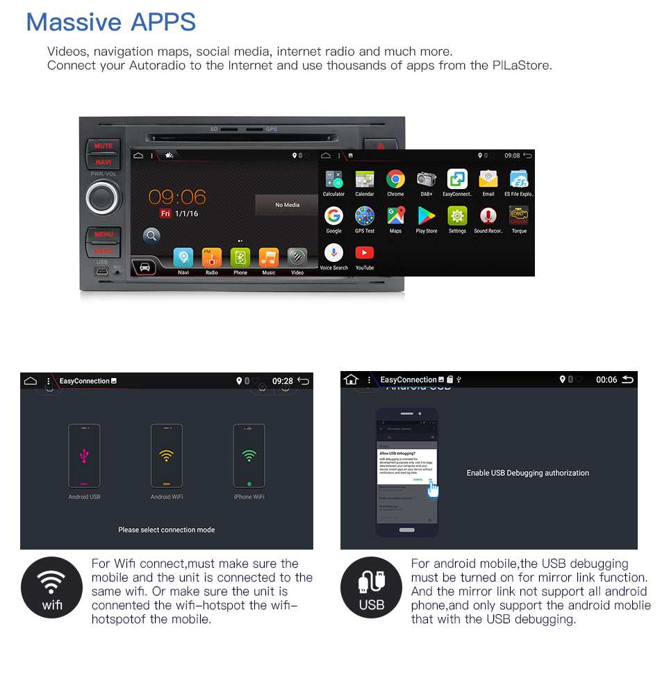 Image 5 - Bosion Quad core Android 10 Car DVD 2 Din car stereo for Ford Mondeo C max focus galaxy S max fusion ranger Multimedia AutoaudioCar Multimedia Player   -