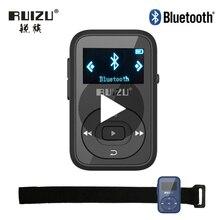 цена на Ruizu Sport Audio Mini Bluetooth Mp3 Player Music Audio Mp 3 Mp-3 With Radio Digital Hifi Hi-Fi Screen Fm Flac Usb 8GB Clip Flac