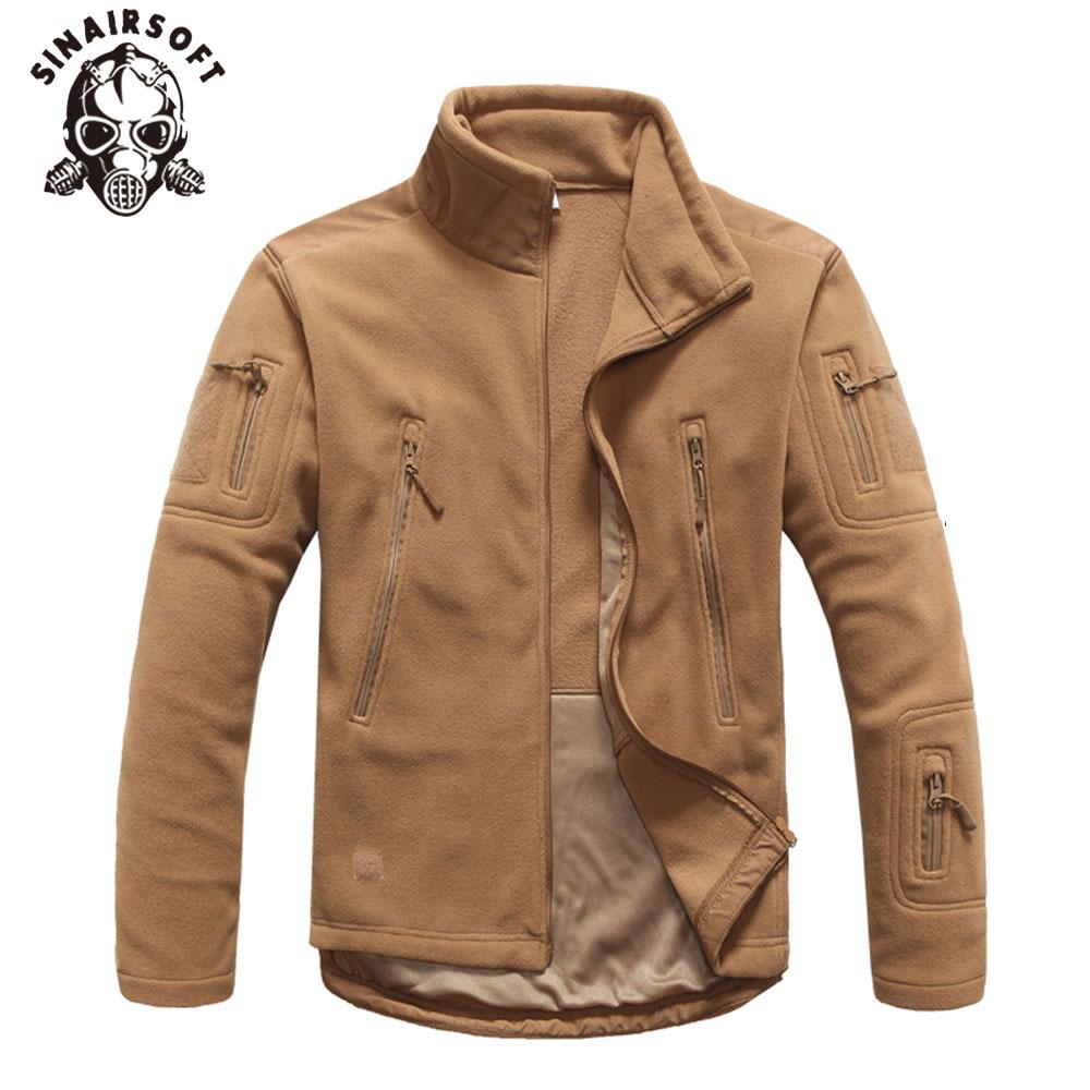 Hot Winter Military Tactical Outdoor Soft Shell Fleece Warm Jacket Men Sportswear Army Hunting Sport