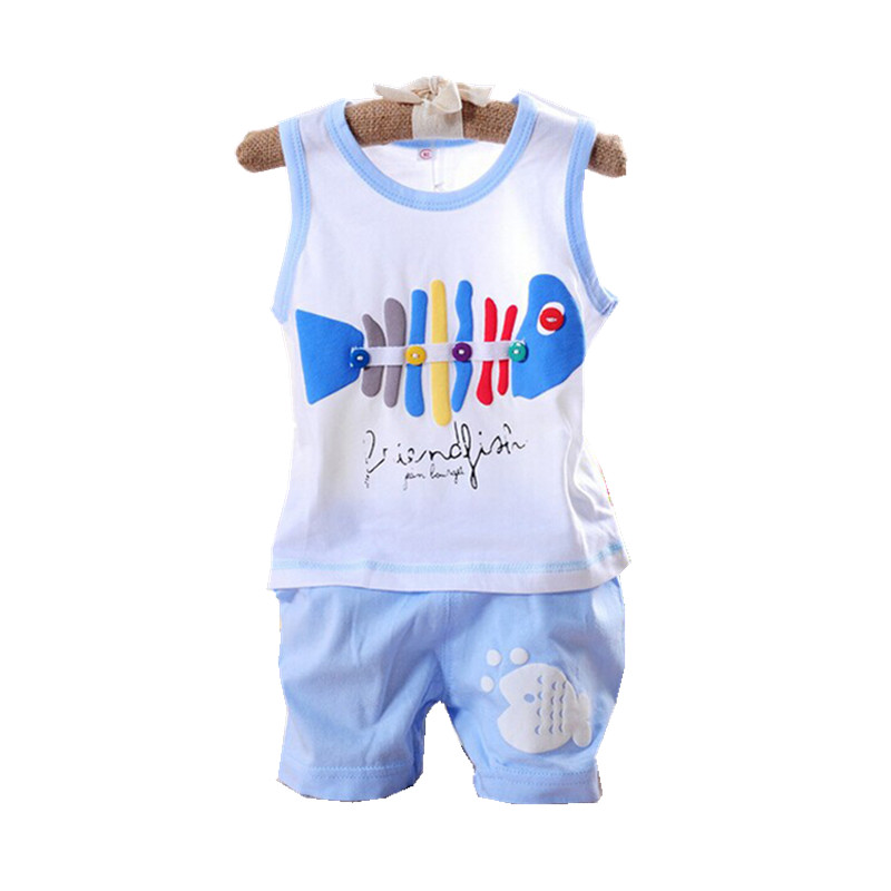 Baby Sets 2017 Summer Sport Girls Boys Sleeveless Vest+Shorts Newborn Baby 2pcs Kids Clothes Sets Cotton Suits V20 shivaki ssh i127be srh i127be