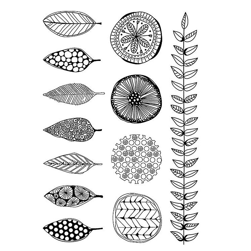 ZhuoAng plant Stamps/Silicone Transparent Seals for DIY scrapbooking photo album Clear Stamps 11*16cm