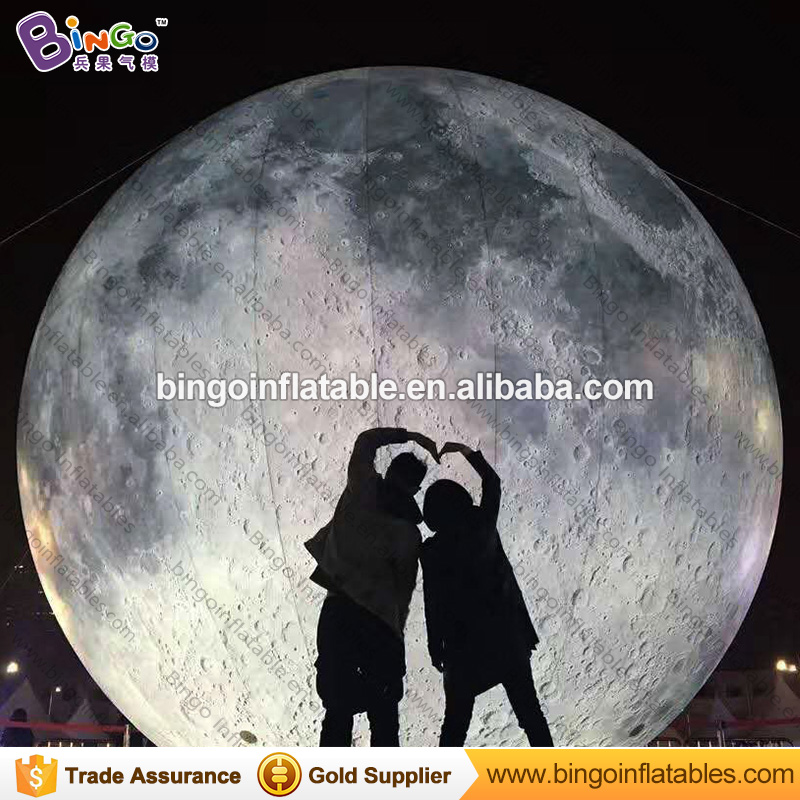 3M dia LED lighting inflatable moon balloon large LED moon lights outdoor ball lights for decoration inflatable planet toy moon