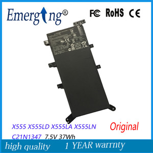 Bateria Do Portátil para ASUS originais 7.5 V 37Wh X555 X555LA X555LD4210 X555LN A555L C21N1347 2ICP4/63/134