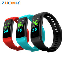 ZUCOOR Smart Bracelet Blood Pressure Band Monitor Cardiaco Pedometer Wristband Bluetooth Wearable Devices Women Watch PK QS80 F4(China)