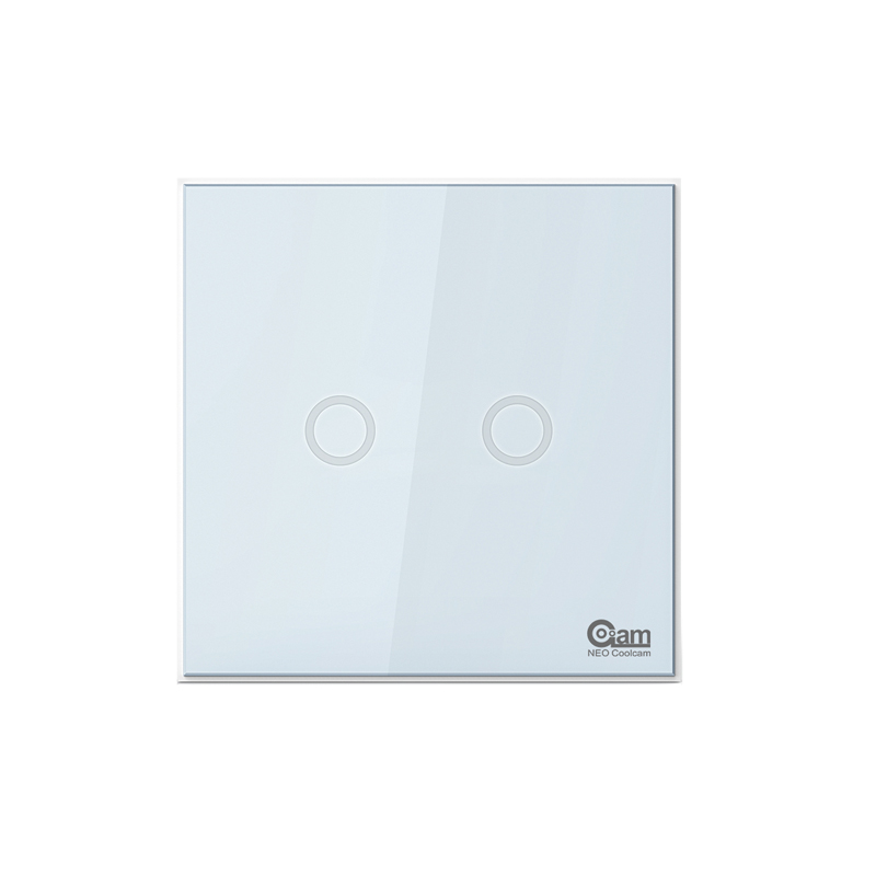 NEO COOLCAM NAS-SC01Z Z-wave Plus Wall Light Switch 2CH Gang Home Automation Z Wave Wireless Smart Remote Control Light Switch