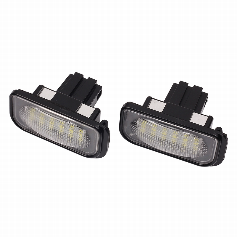 MALUOKASA 2 Pcs Xenon White License Plate LED Light No Error for Mercedes Benz W203 W211 W219 Car-styling Xenon White LEDs kalaisike custom car floor mats for mitsubishi all model asx outlander lancer pajero sport pajero dazzle car styling accessories