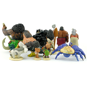 Image 5 - Disney Film Vaiana Moana 10 teile/satz Cartoon Prinzessin Maui Chef Tui Tala Heihei Pua Action Figure Dekoration Spielzeug Für Kinder