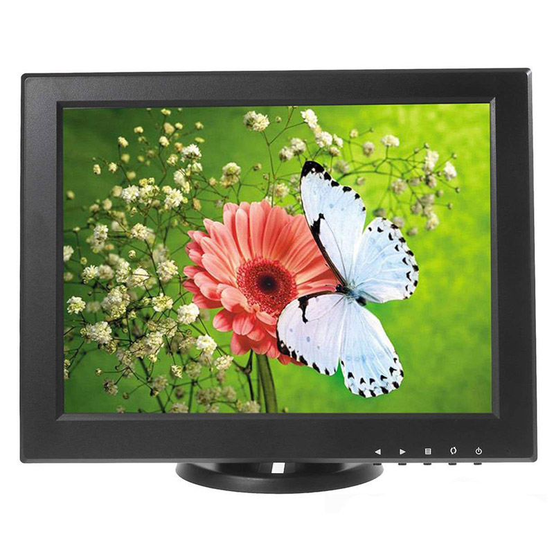 12 Inch HDMI Monitor with BNC VGA AV HDMI Input 1024*768 Portable TFT LCD Mini HD Color Video Screen for PC CCTV Home Security цена и фото
